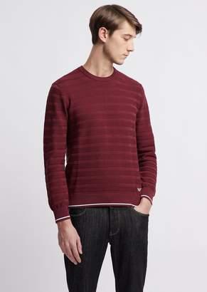 Emporio Armani Striped, Pure Cotton Sweater