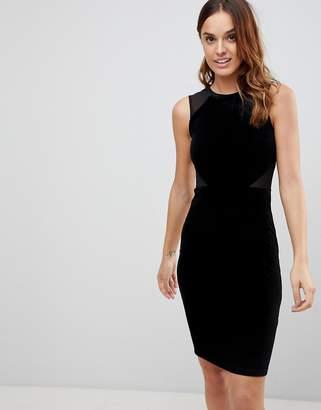 French Connection Viven Velvet Panel Bodycon Dress