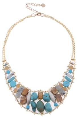 Nakamol Design Stone & Freshwater Pearl Collar Necklace