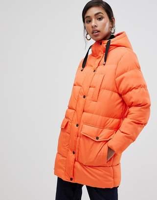 Brave Soul snowstar padded mid length coat