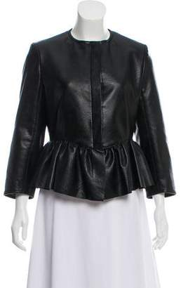 Stella McCartney Vegan Leather Peplum Jacket w/ Tags