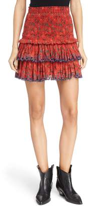 Etoile Isabel Marant Naomi Smocked Waist Miniskirt