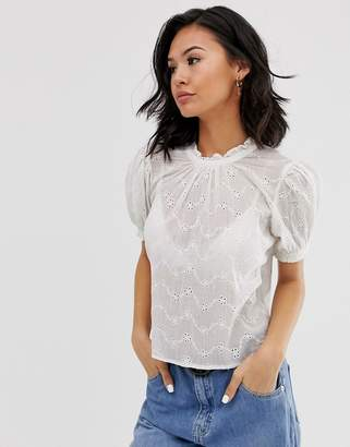 Free People letters to juliet broderie t-shirt
