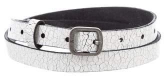 Frye Skinny Distressed Belt