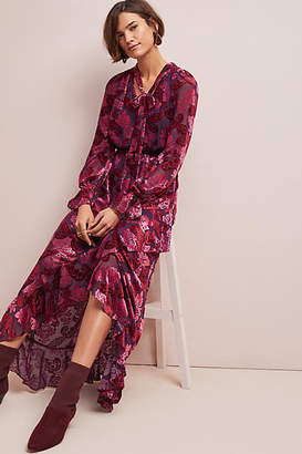 ML Monique Lhuillier Palais Velvet Dress