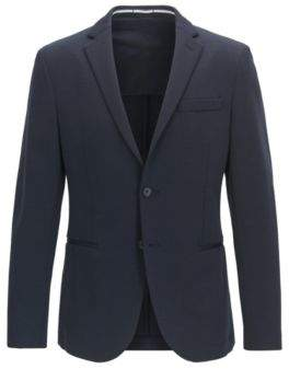 HUGO BOSS Wool Blend Sport Coat, Slim Fit Norwin J 36R Dark Blue