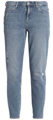 MiH Jeans Distressed Faded Mid-Rise Skinny Jeans