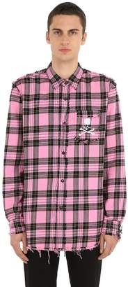 Mastermind World Reversible Plaid Cotton Flannel Shirt