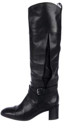 Hermes Vented Knee-High Leather Boots