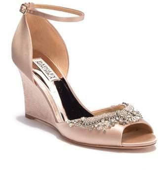 Badgley Mischka Malorie Embellished Wedge Sandal