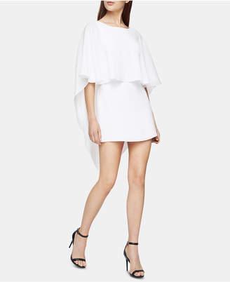 BCBGMAXAZRIA Open-Back Mini Cape Dress