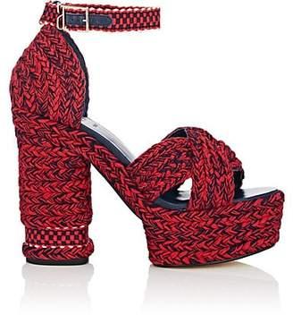 ANTOLINA Women's Aurora Cotton Platform Sandals - Red