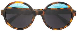 Italia Independent round framed sunglasses