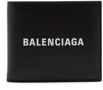 Balenciaga Logo bi-fold leather wallet
