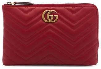 Gucci Red Marmont 2.0 Leather Pouch