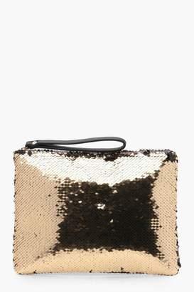 boohoo Emily Sequin Clutch Bag