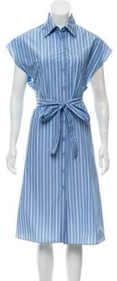 Rosetta Getty Stripe Midi Shirtdress w/ Tags