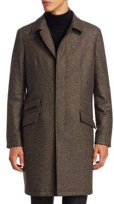Saks Fifth Avenue COLLECTION Single-Breasted Wool Topcoat