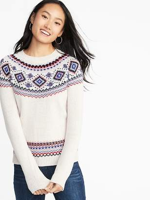 Old Navy Metallic Fair Isle Sweater for Women