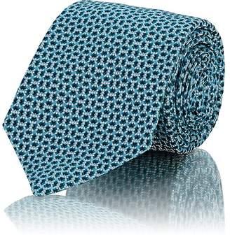Kiton Men's Neat-Pattern Silk Jacquard Necktie