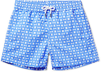 Urca Mid-Length Printed Swim Shorts $220 thestylecure.com