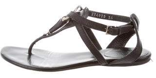 Gucci Leather Thong Sandals