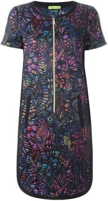 Versace embossed pattern T-shirt dress