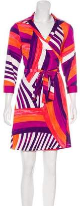 Julie Brown Printed Wrap Dress w/ Tags