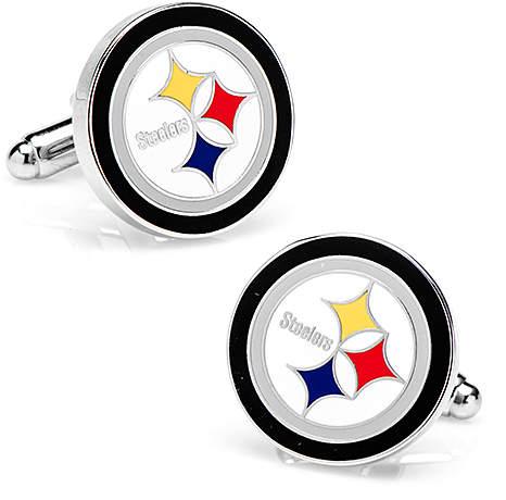 Pittsburgh Steelers Enamel & Silvertone Cuff Links