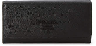 Prada Black Saffiano Leather Bi-Fold Long Wallet
