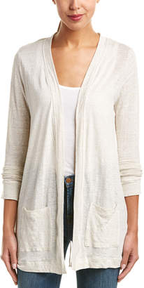 Three Dots Easy Linen Cardigan