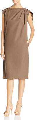 Max Mara Zante Loop-Detail Cotton Shift Dress