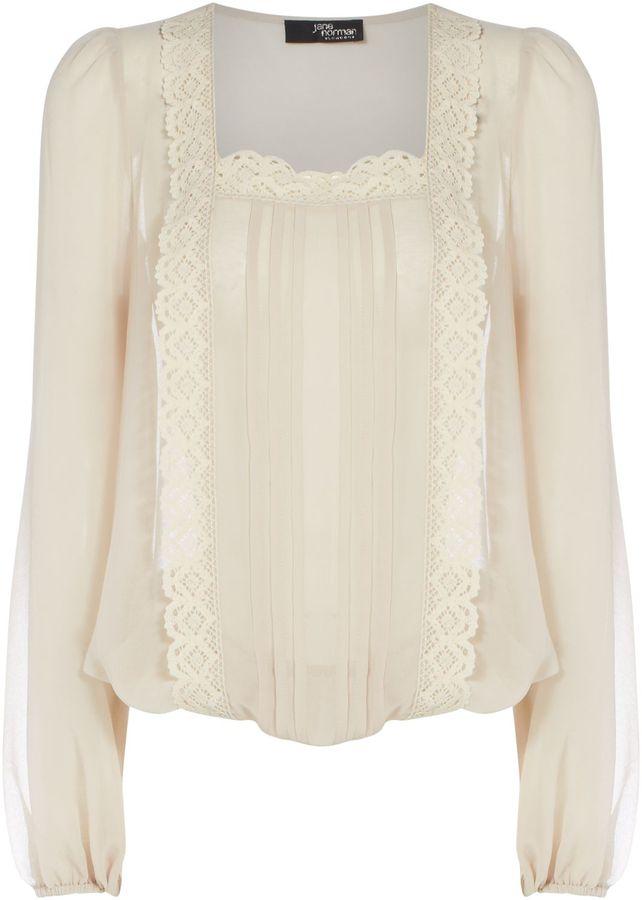 Women's Jane Norman Lace square neck blouse