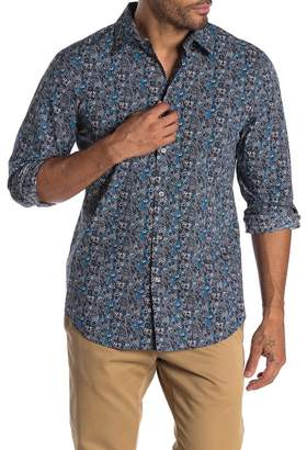 Perry Ellis Floral Paisley Long Sleeve Straight Fit Shirt