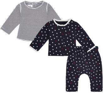 Petit Bateau Stars And StripesSweater Set