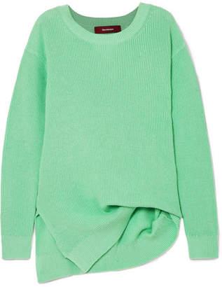 Sies Marjan - Fern Pickup Asymmetric Cotton Sweater - Light green