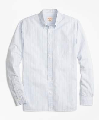 Brooks Brothers Tick-Stripe Cotton Seersucker Sport Shirt