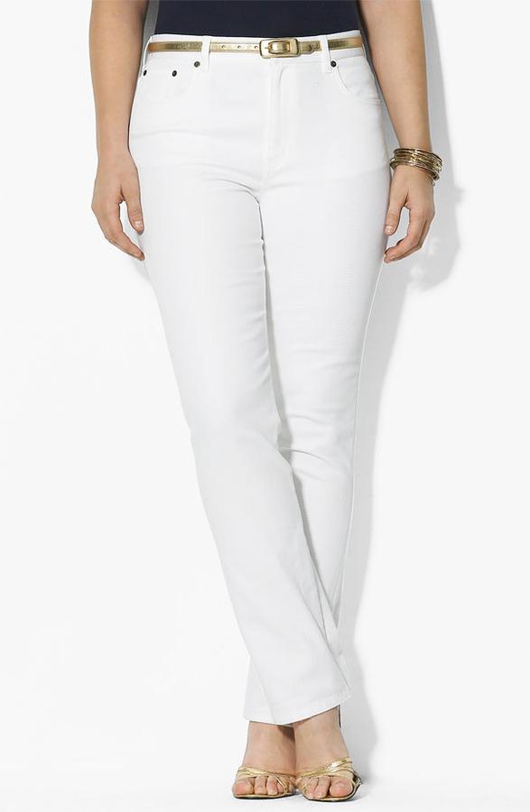 Lauren Ralph Lauren Straight Leg Jeans (Plus)