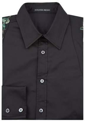 Alexander McQueen Embroidered Harness Formal Shirt