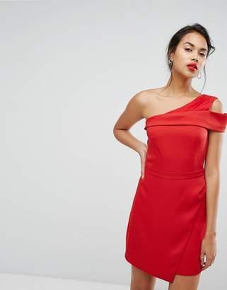 Morgan One Shoulder Pleat Front Mini Dress