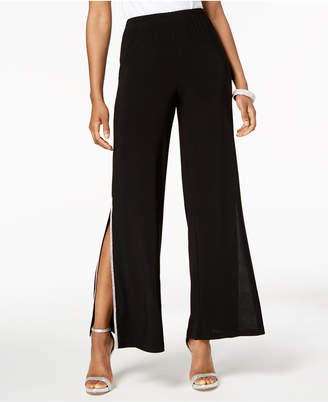 MSK Petite Sequined Wide-Leg Pants
