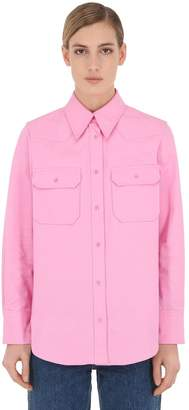 Calvin Klein Jeans (カルバン クライン ジーンズ) - CALVIN KLEIN JEANS コットンツイル ユーティリティシャツ