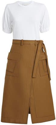 3.1 Phillip Lim Topstitch Skirt T-Shirt Dress