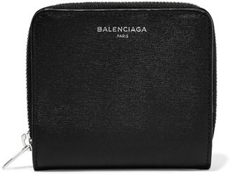 Balenciaga - Essential Textured-leather Wallet - Black $495 thestylecure.com