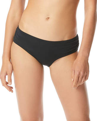 MICHAEL Michael Kors Shirred Hipster Bikini Bottoms