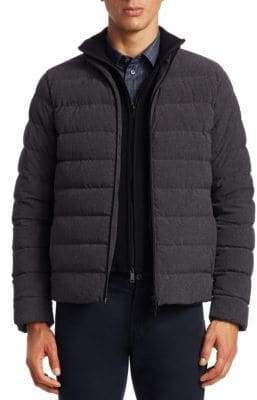 Emporio Armani Men's Quilted Puffer Jacket - Dark Grey - Size 58 (48) R