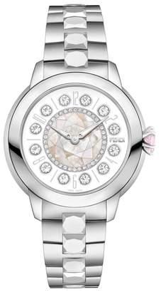 Fendi Ishine Diamond Bezel Rotating Bracelet Watch, 33mm