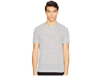 ATM Anthony Thomas Melillo Striped Linen Relaxed Fit Crew Men's T Shirt