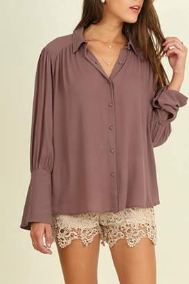 Umgee USA Bell Sleeved Blouse