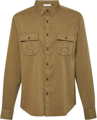 Frame Slouchy Cotton-Blend Work Shirt